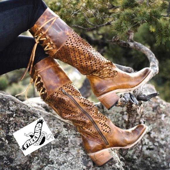 d45cbd7b311 Stunning Distressed Cognac Freebird Boots